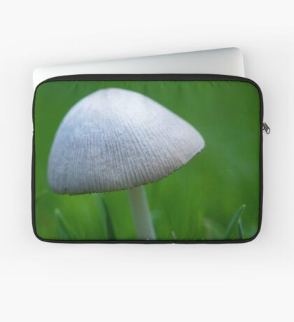 A Wee Little Mushroom Hiding in the Grass Laptop Sleeve