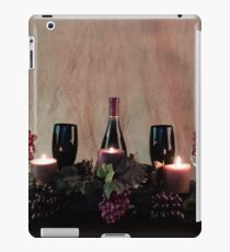 Candles, Wine, Grapes and More Grapes iPad Case/Skin