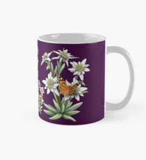 FLORAL ~ D1G1TAL-M00DZ ~ Edelweiss with Butterfly by tasmanianartist Mug