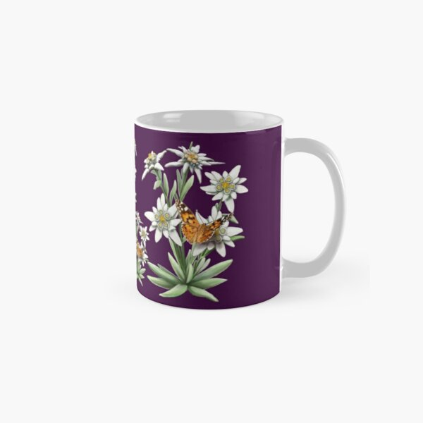 FLORAL ~ D1G1TAL-M00DZ ~ Edelweiss with Butterfly by tasmanianartist Classic Mug