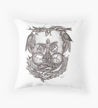 Expectations of the human mind Throw Pillow