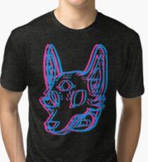 3D Space Coyote Tri-blend T-Shirt