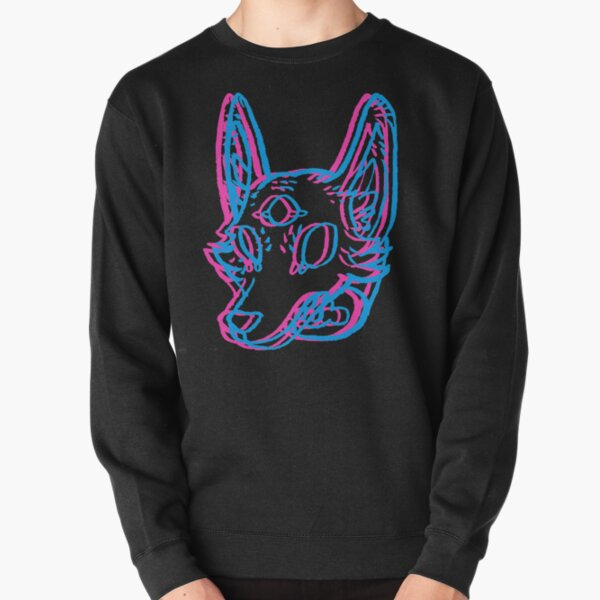 3D Space Coyote Pullover Sweatshirt