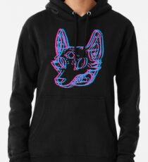 3D Space Coyote Pullover Hoodie