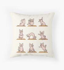 Sphynx Cat Yoga Throw Pillow