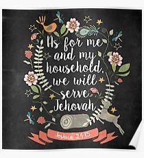 Joshua 24:15 Poster