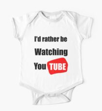 I'd rather be watching YouTube One Piece - Short Sleeve