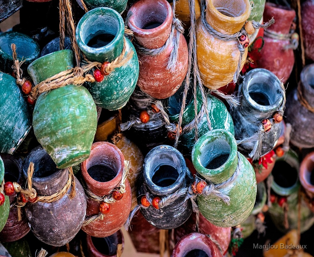 Pottery in Street Market by Marylou Badeaux