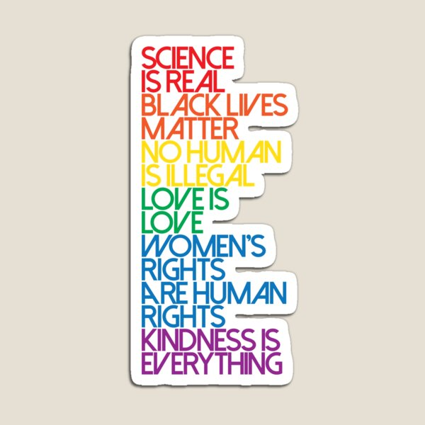 Science is Real Black Lives Matter Magnet