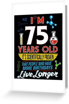Funny 75th Birthday Science Lover Geeky Gag Gifts By SpecialtyGifts