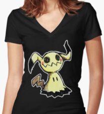 Mimikyu Women's Fitted V-Neck T-Shirt