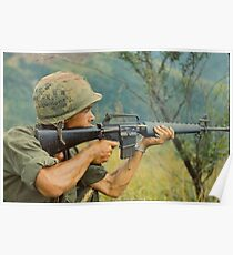 Soldier in Vietnam Poster