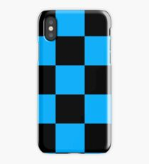 black blue checkered iPhone Case
