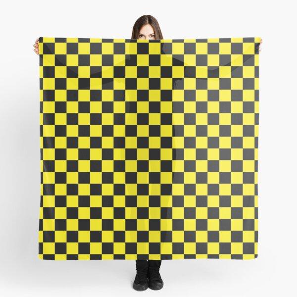 black yellow checkered Scarf