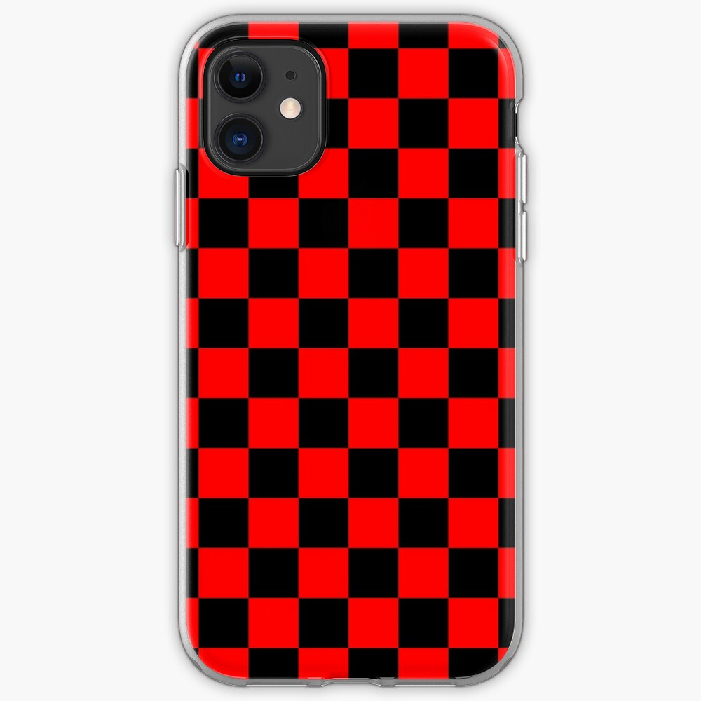 black red checkered iPhone 11 case