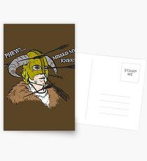 Arrow To The Knee Postcards