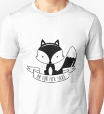 Oh For Fox Sake - Black And White T-Shirt