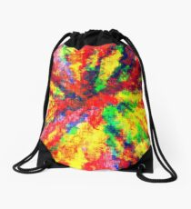 Psychedelic Art School Acrylic Paint Canvas Drawstring Bag