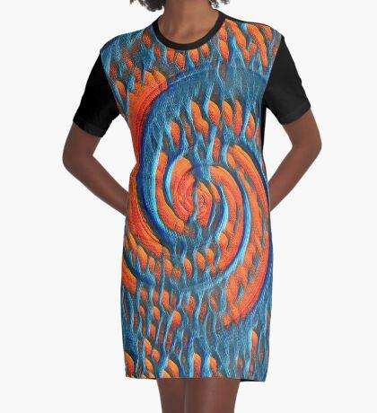 Broken Fibonacci Graphic T-Shirt Dress