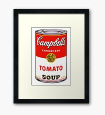 andy warhol campbell's soup can phone case Framed Print