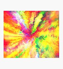 Psychedelic Abstract Watercolour Art Photographic Print