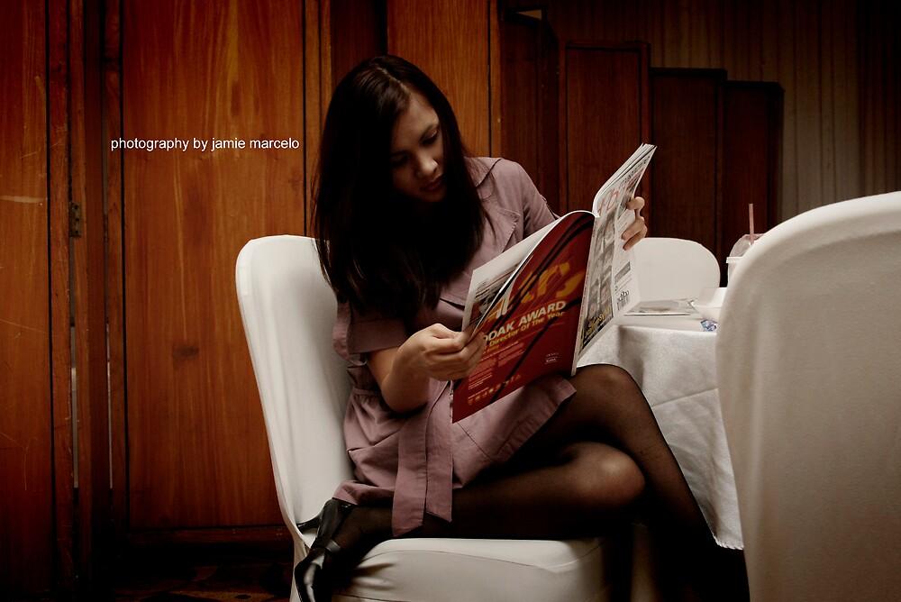 girl reading 01 by jamie marcelo