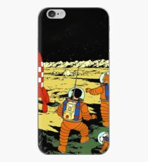 Tintin rocket moon tshirt iPhone Case