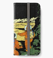 Tintin rocket moon tshirt iPhone Wallet/Case/Skin