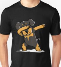 Dabbing Rottweiler Funny Unisex T-Shirt