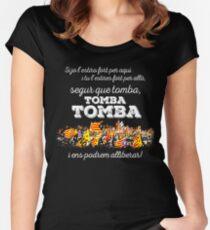 L'ESTACA - SEGUR QUE TOMBA Women's Fitted Scoop T-Shirt