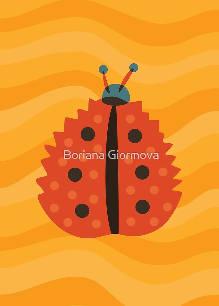 Orange Ladybug With Autumn Leaf Disguise by Boriana Giormova