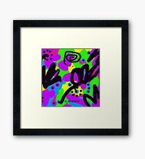 Jumba Multicolour Art by Teena Hughes Framed Print