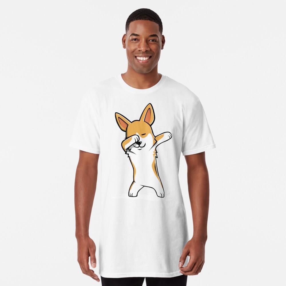 Dabbing Corgi Funny Camiseta larga