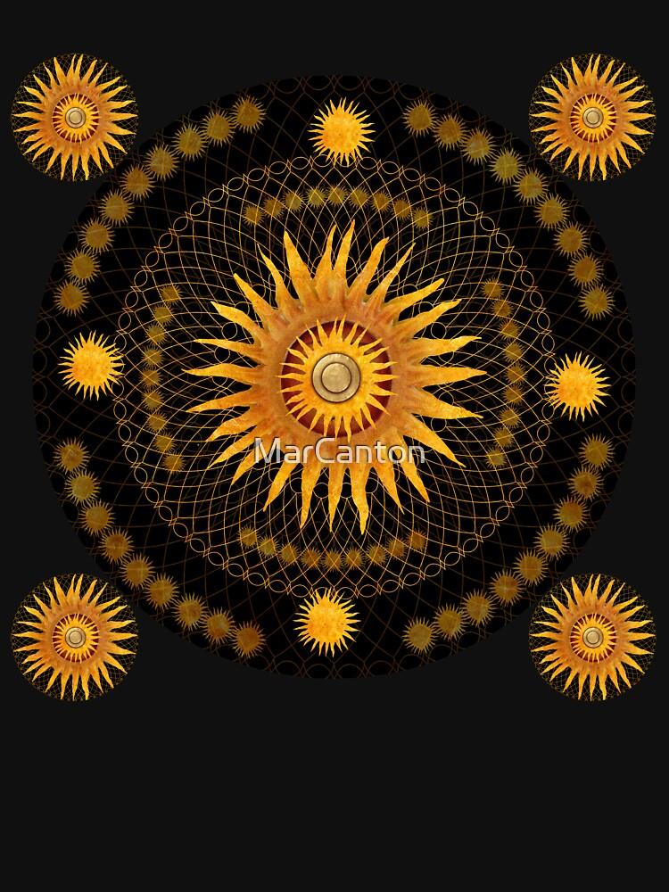 """Black & Gold Vault Mandala""  by MarCanton"
