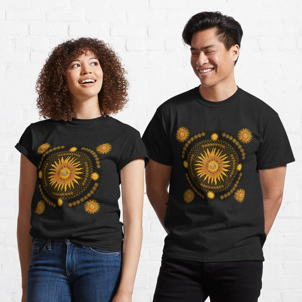 """Black & Gold Vault Mandala""  Classic T-Shirt"