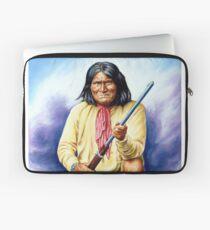 Geronimo, apache, american native indian portrait painting Laptop Sleeve
