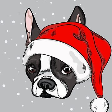 French bulldog in christmas hat by TorriPhoto