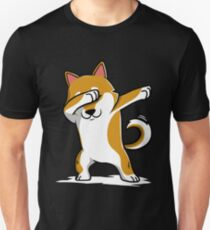 Dabbing Shiba Inu Funny Unisex T-Shirt