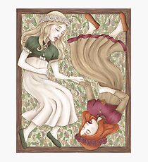 Snow White and Rose Red Photographic Print