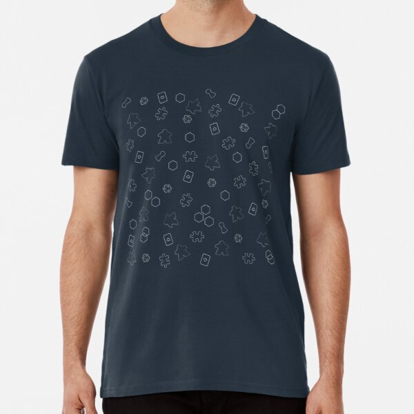 Meeple and board games pattern Premium T-Shirt