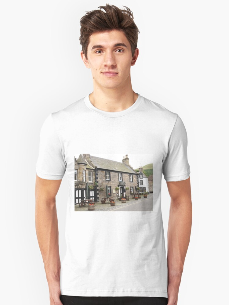 Mrs Baird's Guesthouses ( the Covenanter Hotel, Falkland ), Outlander film location Unisex T-Shirt Front