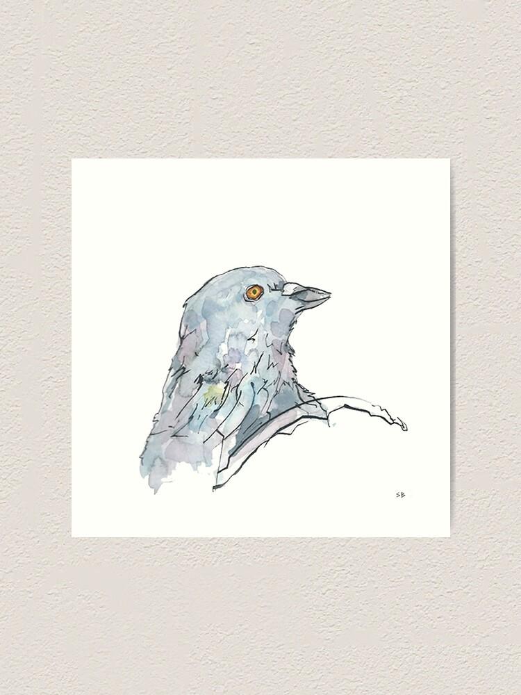 Alternate view of Pigeon Art Print