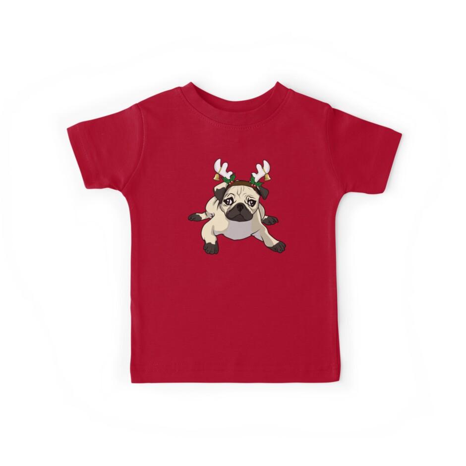 Funny Pug TShirt | Cute Pug Christmas Shirt for Pug Lovers\