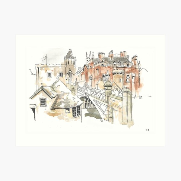 Lendal Bridge, York Art Print