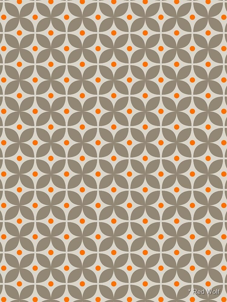 Geometric Pattern: Stylised Flower: Grey by redwolfoz