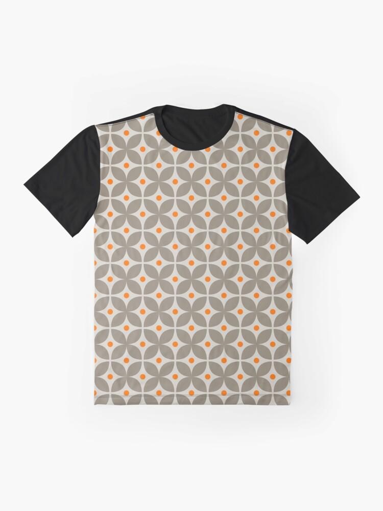 Alternate view of Geometric Pattern: Stylised Flower: Grey Graphic T-Shirt