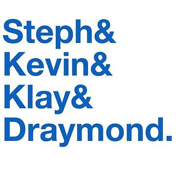 Steph & Kevin & Klay & Draymond by chunked