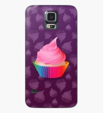 Pink Frosting Rainbow Vanilla Cupcake Case/Skin for Samsung Galaxy