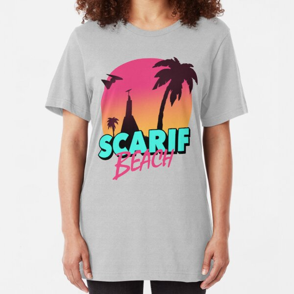 Scarif Beach Slim Fit T-Shirt