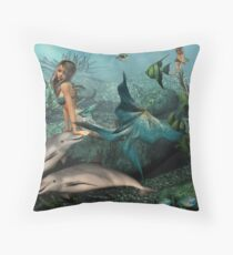 Cheering Up Mayla Throw Pillow
